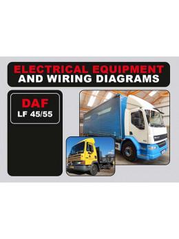 DAF LF 45 / LF 55, электросхемы и электрооборудование в электронном виде (на английском языке)
