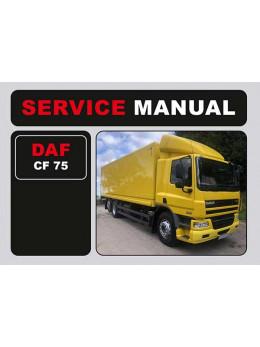 DAF CF 75, инструкция по эксплуатации в электронном виде (на английском языке)