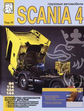 Руководство по устройству автомобиля и каталог деталей Scania 94 / 114 / 124 / 144 c двигателями 9 / 11 / 12 / 14 литра в электронном виде, том 4