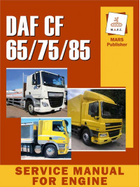Service manual for the engine DAF CF 65 / CF 75 / CF 85 in English