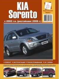 Kia Sorento c 2002 года (+рестайлинг 2006 года), книга по ремонту в электронном виде