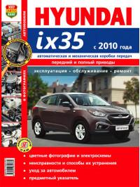 Hyundai ix35 с 2010 года, книга по ремонту в цветных фотографиях в электронном виде