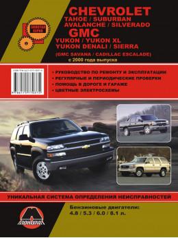 Chevrolet Tahoe / Chevrolet Saburban / Chevrolet Avalanche / Chevrolet Silverado / GMC Yukon / Denali / Sierra с 2000 года, книга по ремонту в электронном виде