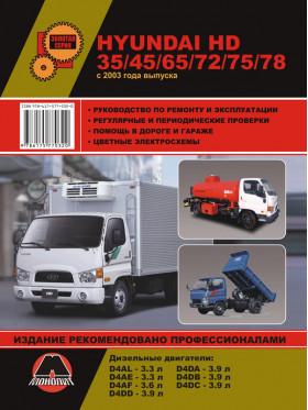 Hyundai HD 35 / HD 45 / HD 65 / HD 72 / HD 75 / HD 78 с 2003 года, книга по ремонту в электронном виде
