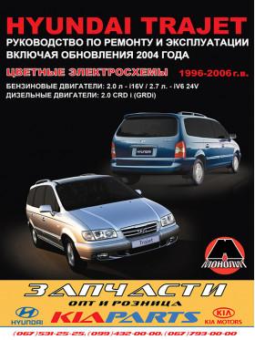 Руководство по ремонту Hyundai Trajet с 1996 по 2006 год (+обновления 2004 года) в электронном виде