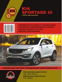 Kia Sportage с 2010 года, книга по ремонту в электронном виде