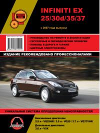 Infiniti EX25 / EX30d / EX35 / EX37 / Nissan Skyline Crossover с 2007 года, книга по ремонту в электронном виде