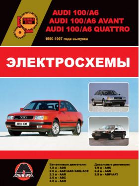Электросхемы Audi 100 (C4 / A4) / Audi 100 Avant / Audi 100 Quattro / Audi A6 Avant / Audi A6 Quattro с 1990 по 1997 год в электронном виде