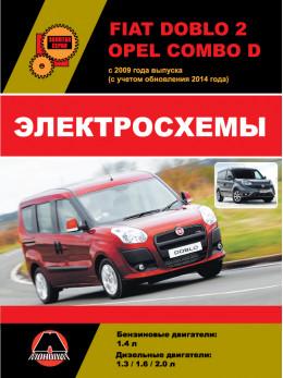 Fiat Doblo 2 / Opel Combo D с 2009 года (с учетом обновлений 2014 года), электросхемы в электронном виде