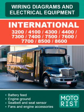 Электросхемы International 3200 / 4100 / 4300 / 4400 / 7300 / 7400 / 7500 / 7600 / 7700 / 8500 / 8600в электронном виде (на английском языке)