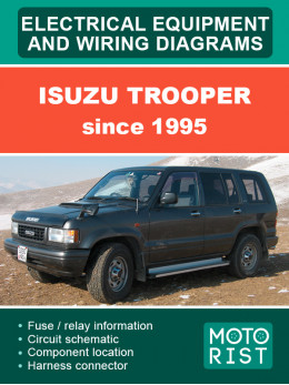 Isuzu Trooper 1995 года электрооборудование и электросхемы в электронном виде (на английском языке)