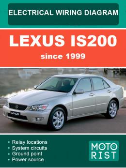 Lexus IS200 c 1999 года, электросхемы в электронном виде (на английском языке)