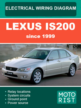 Электросхемы Lexus IS200 c 1999 года в электронном виде (на английском языке)