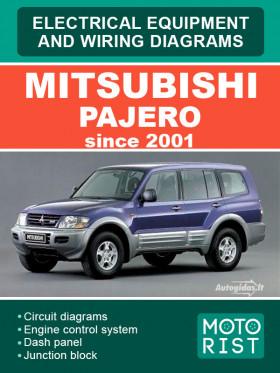 Электрооборудование и электросхемы Mitsubishi Pajero с 2001 года, в электронном виде (на английском языке)