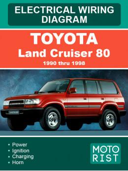 Toyota Land Cruiser 80 с 1990 по 1998 год, электросхемы в электронном виде (на английском языке)