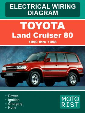 Электросхемы Toyota Land Cruiser 80 с 1990 по 1998 год в электронном виде (на английском языке)