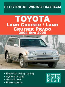 Toyota Land Cruiser / Land Cruiser Prado c 2004 по 2005 год, электросхемы в электронном виде (на английском языке)