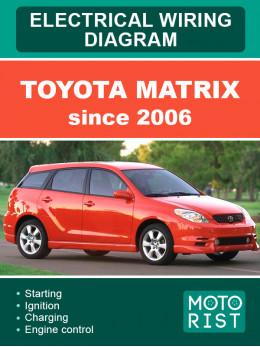 Toyota Matrix c 2006 года, электросхемы в электронном виде (на английском языке)
