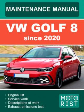 Руководство по техобслуживанию VW Golf 8 с 2020 года в электронном виде (на английском языке)