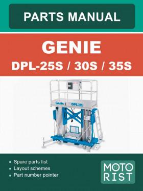 Каталог запчастей подъемника Genie DPL-25S / DPL-30S / DPL-35S в электронном виде (на английском языке)
