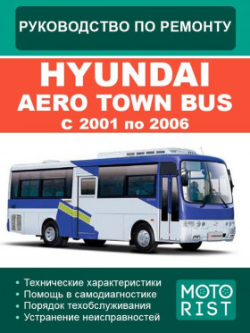 Руководство по ремонту Hyundai Aero Town Bus с 2001 по 2006 год в электронном виде