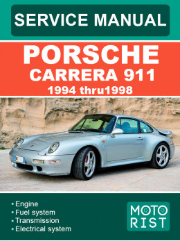 Porsche 911 Carrera с 1994 по 1998 год, руководство по ремонту и эксплуатации в электронном виде (на английском языке)