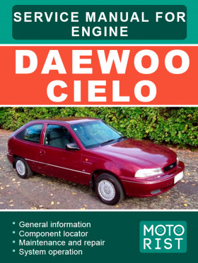Руководство по ремонту двигателя Daewoo Cielo в электронном виде (на английском языке)