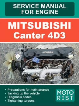 Mitsubishi Canter 4D3, руководство по ремонту двигателя в электронном виде (на английском языке)