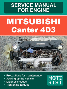 Руководство по ремонту двигателя Mitsubishi Canter 4D3 в электронном виде (на английском языке)
