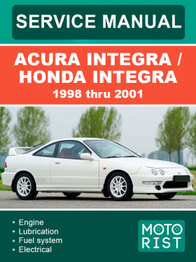 Руководство по ремонту Acura Integra / Honda Integra с 1998 по 2001 год в электронном виде (на английском языке)