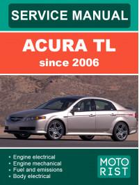 Acura TL c 2004 года, руководство по ремонту и эксплуатации в электронном виде (на английском языке)