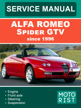 Руководство по ремонту Alfa Romeo Spider GTV c 1996 года в электронном виде (на английском языке)