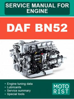 Двигатели DAF BN52, руководство по ремонту в электронном виде (на английском языке)