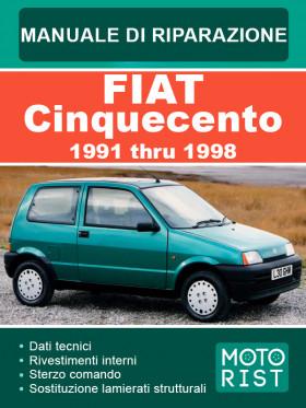 Руководство по ремонту Fiat Cinquecento c 1991 по 1998 год в электронном виде  (на итальянском языке)