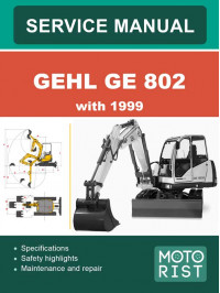 GEHL GE 802 Crawler Excavator since 1999, user e-manual