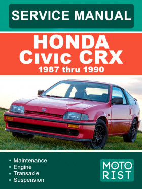 Руководство по ремонту Honda Civic CRX с 1987 по 1990 год в электронном виде (на английском языке)