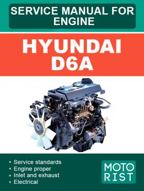 Руководство по ремонту двигателей Hyundai D6A в электронном виде (на английском языке)