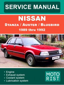 Nissan Stanza / Auster / Bluebird с 1989 по 1992 год, руководство по ремонту и эксплуатации в электронном виде (на английском языке)