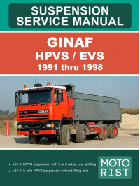 GINAF HPVS / EVS 1991 thru 1998, suspension and steering, service e-manual
