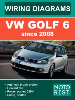VW Golf 6 c 2008 года, электросхемы в электронном виде (на английском языке)