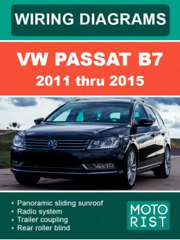 VW Passat B7 с 2011 по 2015 год, электросхемы в электронном виде (на английском языке)