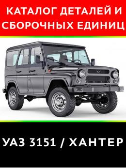УАЗ 3151 Хантер, каталог деталей и сборочных единиц в электронном виде