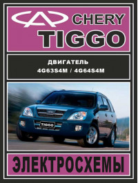 Chery Tiggo, electrical circuits in electronic form