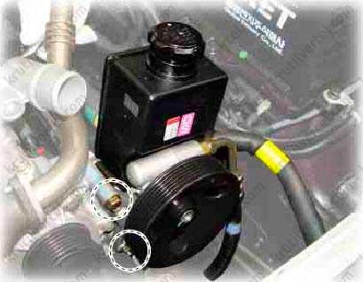 насос гидроусилителя рулевого управления Ssang Yong Kyron 2 с 2005 года, насос гидроусилителя рулевого управления Санг Йонг Кайрон 2 с 2005 года