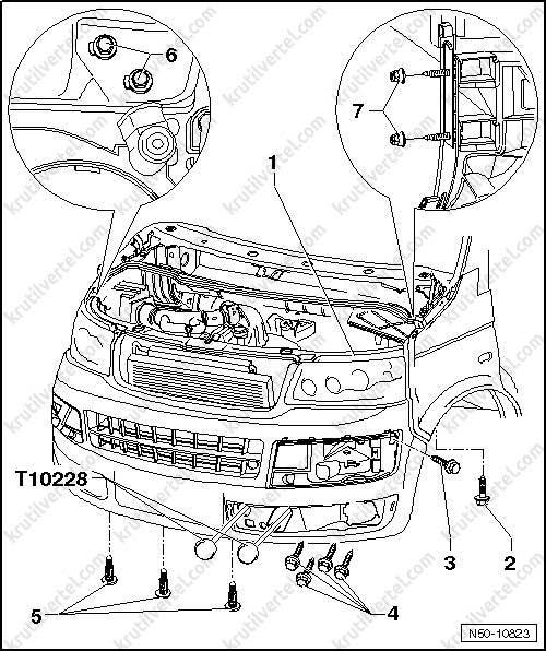 замена радиатора на транспортере т5