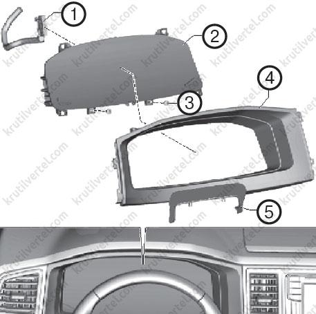 как снять щиток приборов на фольксваген транспортер