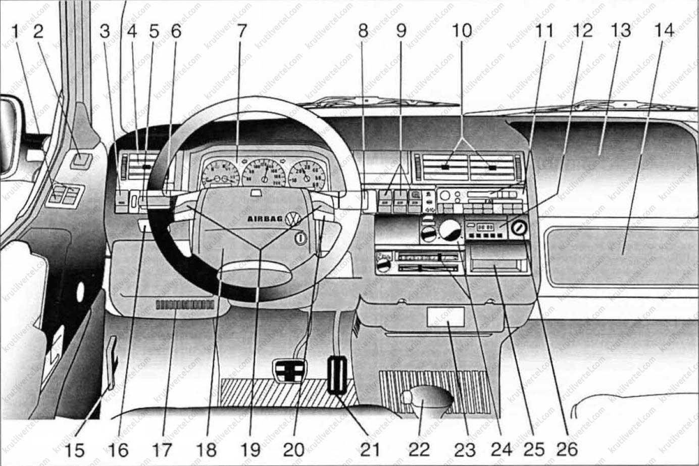 Выключатель света транспортер т4 транспортер т5 не заводится на горячую
