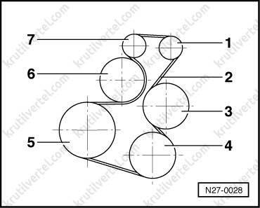 Схема установки ремня генератора фольксваген транспортер маленькие рольганги