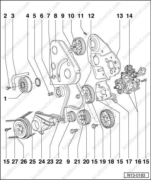 момент затяжки гбц фольксваген транспортер т4