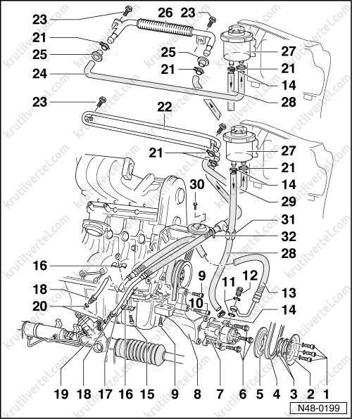 Рулевое управление на фольксваген транспортер транспортер 20 метров